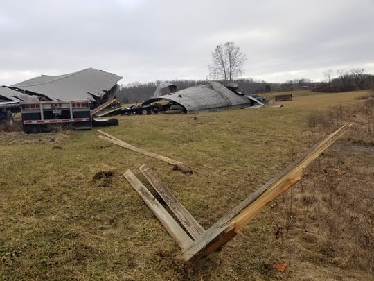 A down burst caused damage to a barn as well as other structures along Ohio 751 and County Road 9 earlier this month. Coshocton County Emergency Management Agency coordinated with the National Weather Service to determine what type of wind event caused the damage.