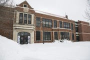 A roof over a classroom at Lowell Elementary School in Waterloo, Iowa, collapsed under the weight of snow on Wednesday, Feb. 20, 2019.