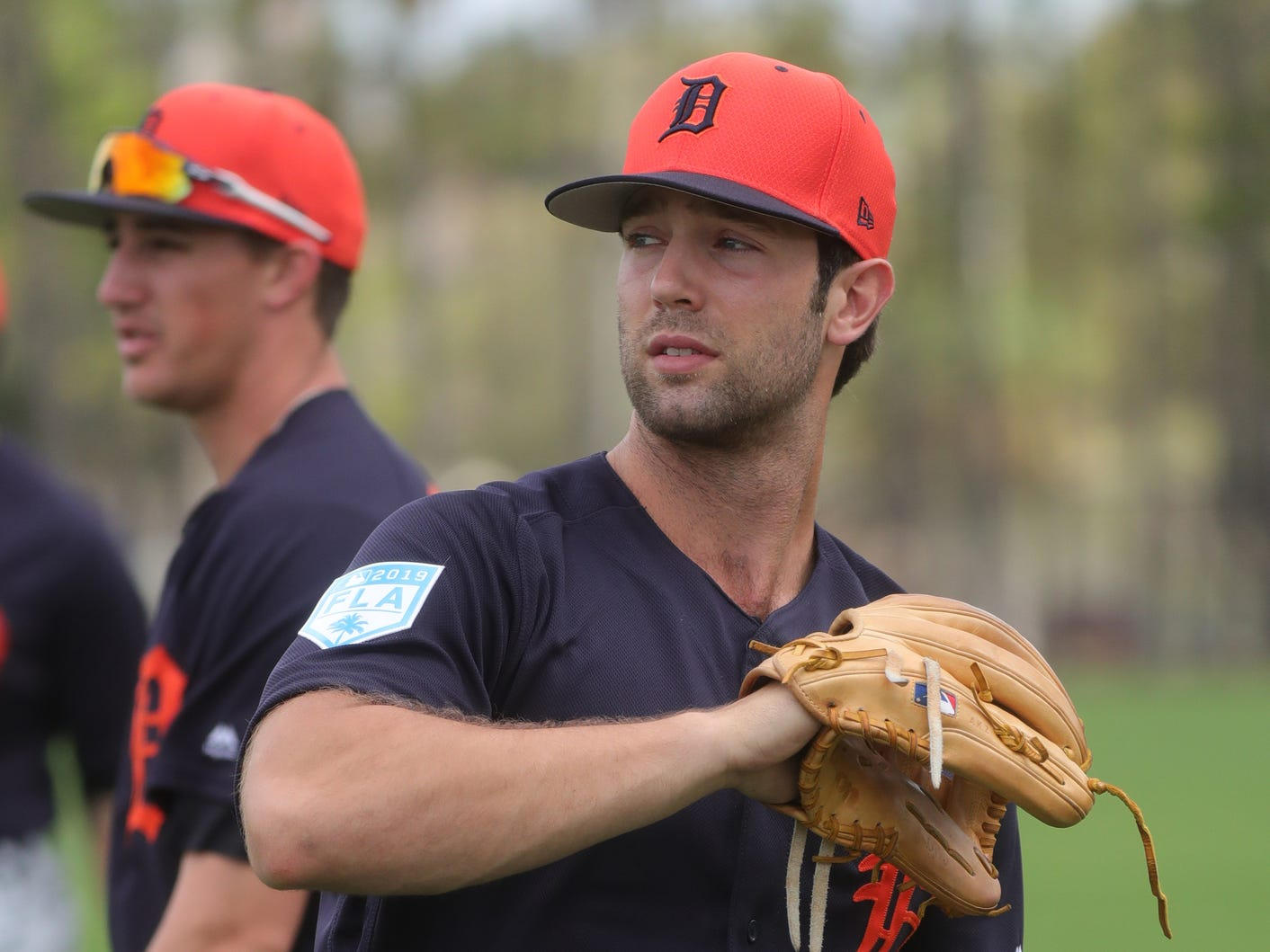 Tigers pitcher Daniel Norris warms up during spring training on Wednesday, Feb. 20, 2019, at Joker Marchant Stadium in Lakeland, Fla.