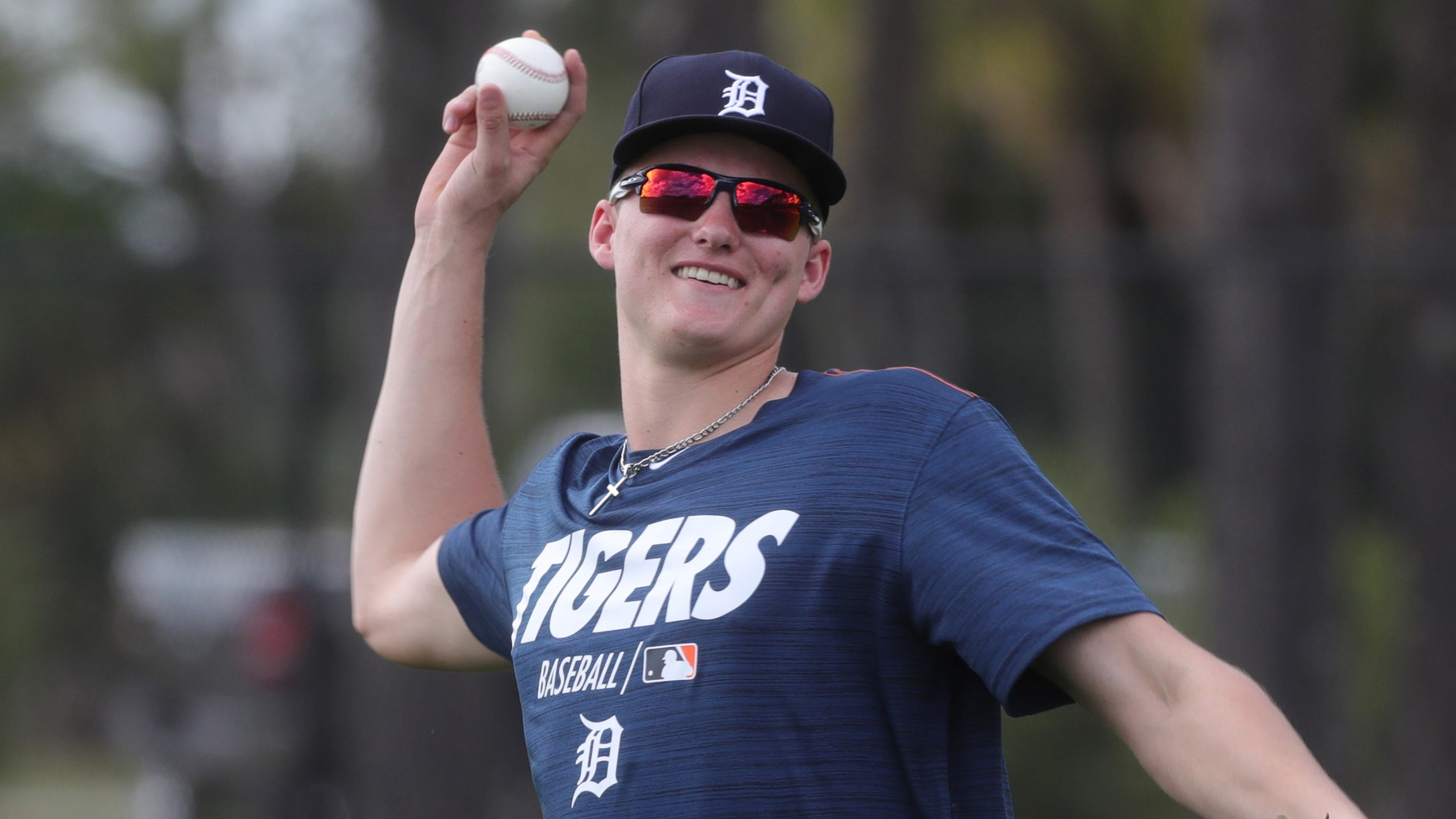 97143ef7a96 Detroit Tigers prospect Parker Meadows shows speed in debut