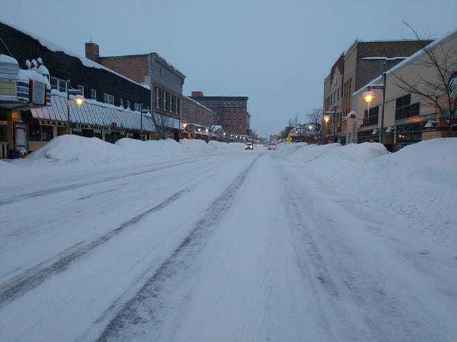 This picture of downtown Sault Ste. Marie was taken the week of Feb. 17, 2019. The city received inches of snow in the month, nearly every day.