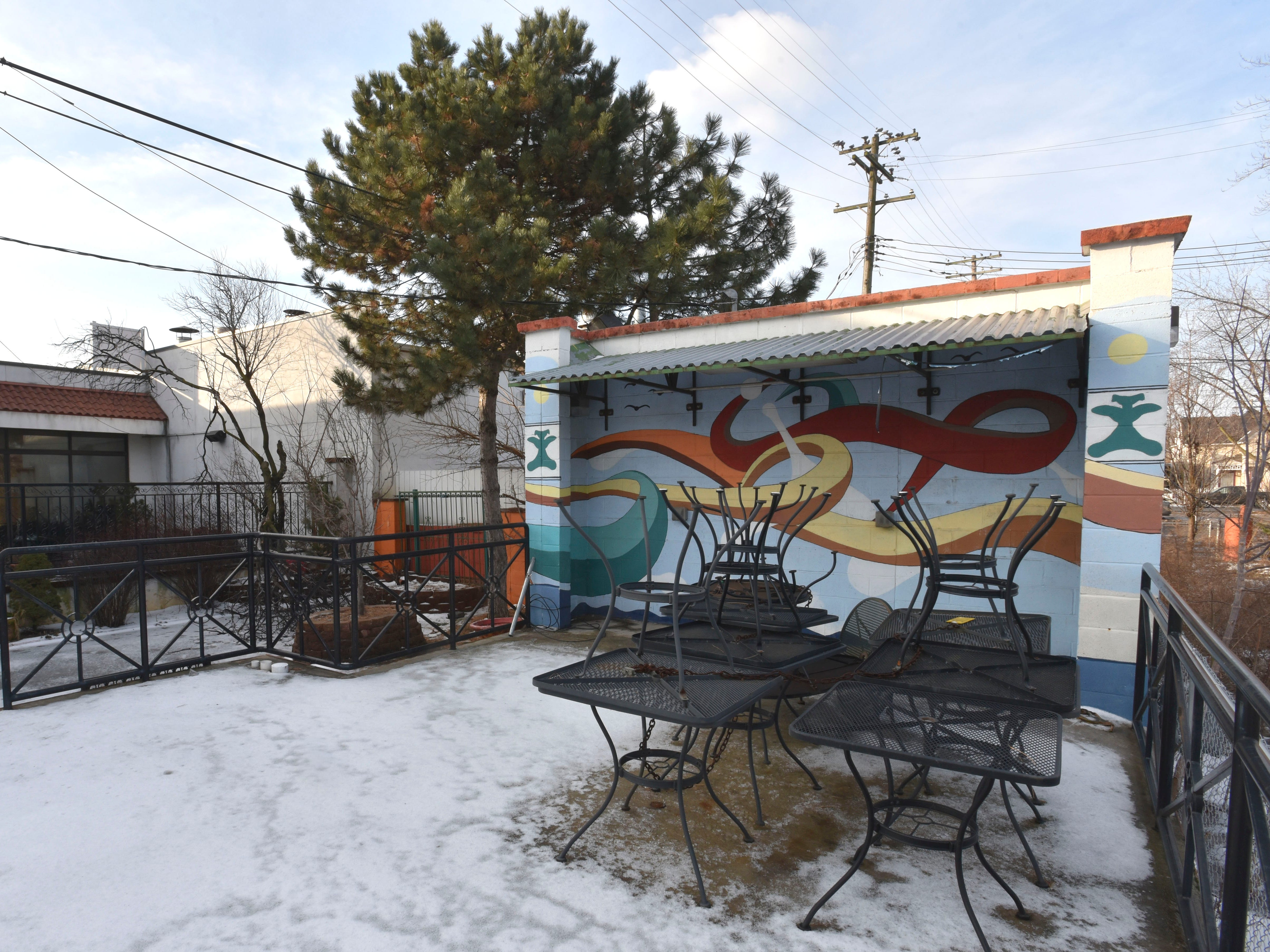 This is the rear of the former El Zocalo Mexican Restaurant at Bagley and 23rd Street in Mexicantown.