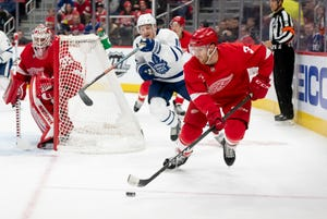 Red Wings defenseman Nick Jensen           is a popular trade target as the deadline approaches, but he has expressed a desire to remain in Detroit.