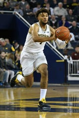 Michigan sophomore Isaiah Livers is the Wolverines' top option off the bench.