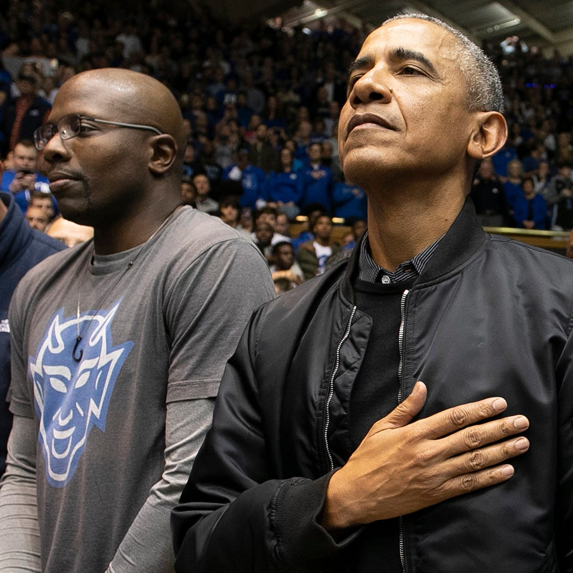 With video: President Obama watches as Duke's Zion Williamson breaks his shoe