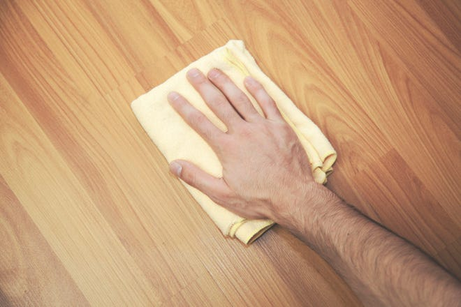 A microfiber cloth is an excellent method for cleaning hardwood floors. (Dreamstime)