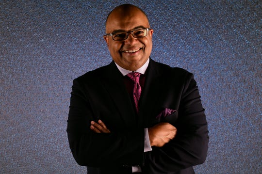 Mike Tirico called his first-ever NHL game Wednesday in Detroit.