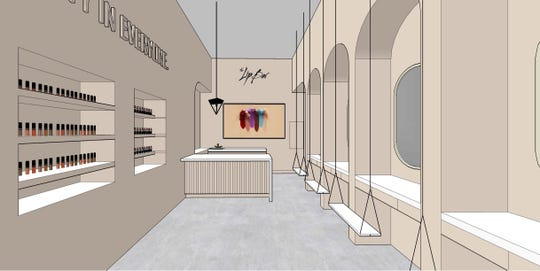 The Lip Bar Detroit rendering.