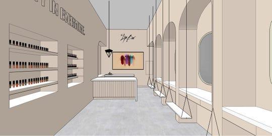The Lip Bar Detroit rendering.