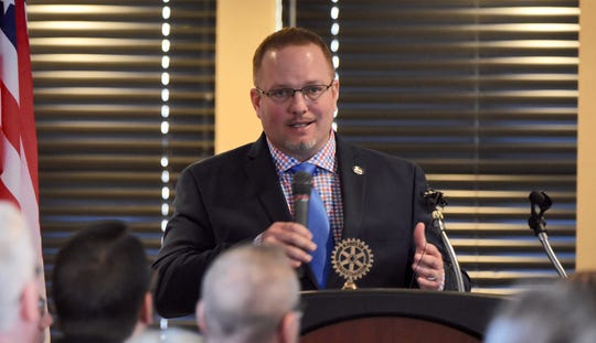 Taylor Mayor Rick Sollars speaks during his State of the City address last month.