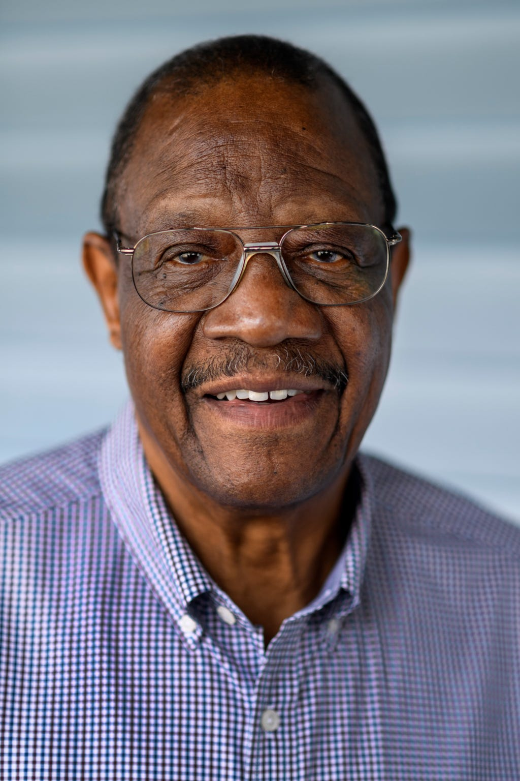 George Flowers, 80, is a 1956 graduate of Lincoln High School, an all-black segregated high school until 1962, in Evansville. He went on to become the city's first African American Fire Chief.