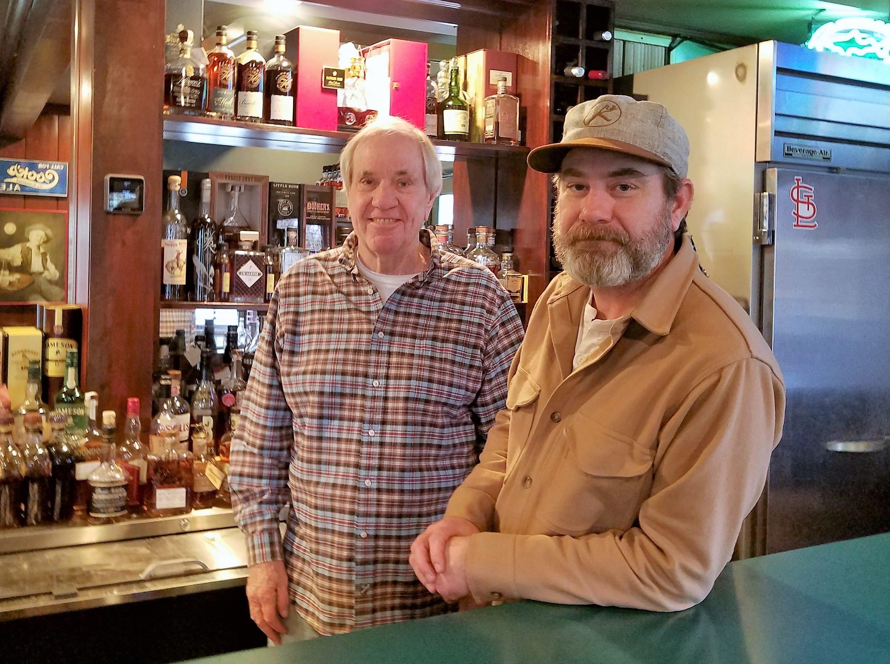 Dan Kollker, left, and Karson Kollker, owners of the Knob Hill Tavern.