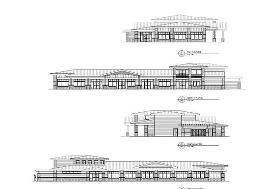 A plan for the new pavilion in Lakeside Park.