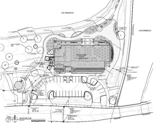 A new pavilion at Lakeside Park will be built at the same location as the existing one, after it is torn done. The near 10,400 square foot building will contain meeting rooms, indoor/outdoor seating for concessions and a balcony that overlooks Lake Winnebago.