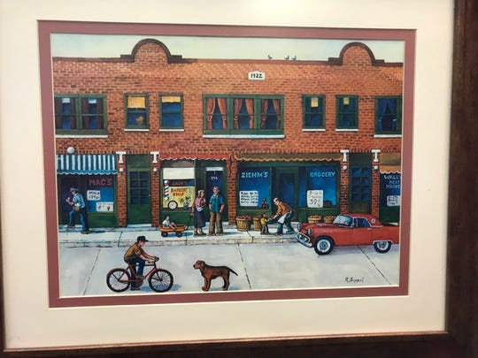 A drawing by Fond du Lac Barber Roger Sippel of the South Park Avenue storefront which now holds Wade's Barbershop from its earlier years. The storefront was built in 1922.
