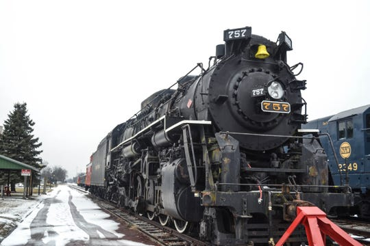 The Nickel Plate 757 was built in 1944, retired in 1960, and left Bellevue in 1966. This year, she came home.