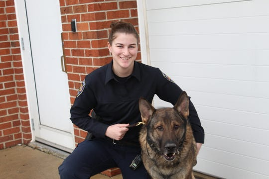 Carla Schaffer and K-9 Lasso are seeing a rise in methamphetamine seizures.