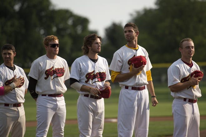 The Fort Collins Foxes, shown before a 2014 game, will play a home game at 5:15 p.m. Sunday at City Park against the Colorado Sox.