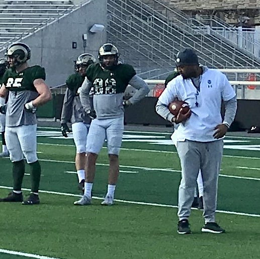 CSU football's new assistant coaching tight ends, keeping Ronnie Letson with the receivers