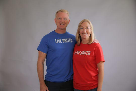 (Left to Right) United Way Campaign Co-Chairs  and Bob Shearman and Linda Doggett