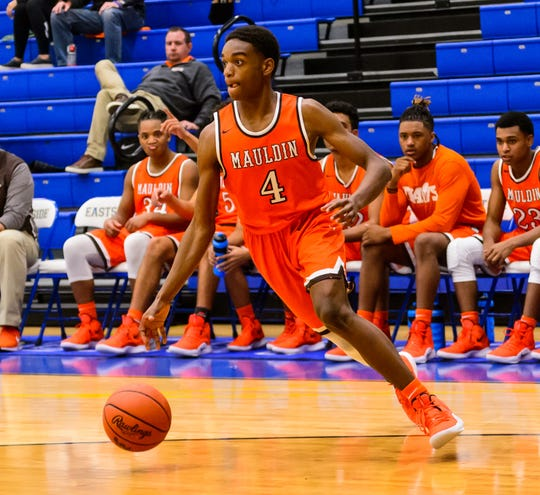 Mauldin's Jameson Tucker (4) and the Mavericks will face Dorman in the Class AAAAA Upper State championship Saturday at the Bon Secours Wellness Arena.
