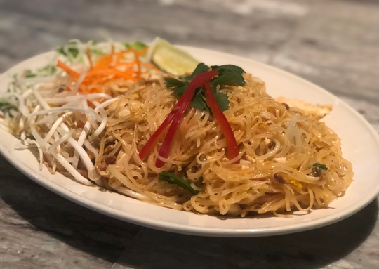 Pad Thai from Basil Thai in downtown Greenville.