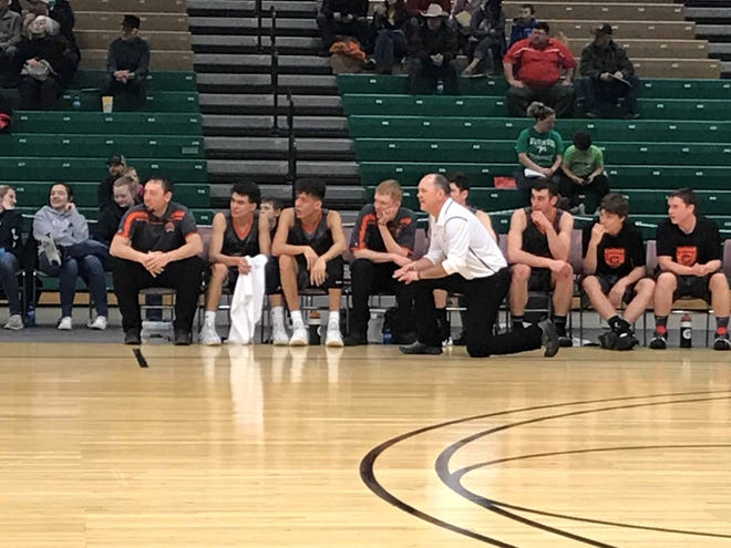 Chinook head coach Mike Seymour has led the Sugarbeeters to an unbeaten season, including Thursday's triumph over Winnett-Grass Range at the Northern C combined tournament at Pacific Steel and Recycling Four Seasons Arena.