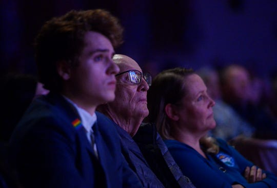 """The audience watches Great Falls Public Schools production of """"Converge: E Pluribus Unum"""" on Wednesday night at Great Falls High."""