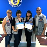 Guam Sunshine Lion Julie LeBreton, third from left, was inducted Feb. 18 during the club's general membership meeting. From left: Lion Jill Pangelinan, first vice-president and leadership chairperson; Lion Mary Taitano, membership chairperson and sponsor of Lion Julie Lebreton; and Lion President Pete Babauta. Lion Julie LeBreton joins the 1.4 million-plus members in more than 210 countries who volunteer to serve the less fortunate.