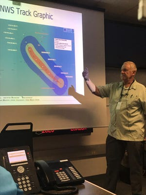 National Weather Service Meteorologist Chip Guard said Guam can expect tropical storm conditions as Typhoon Wutip passes to the south of the island overnight Saturday.