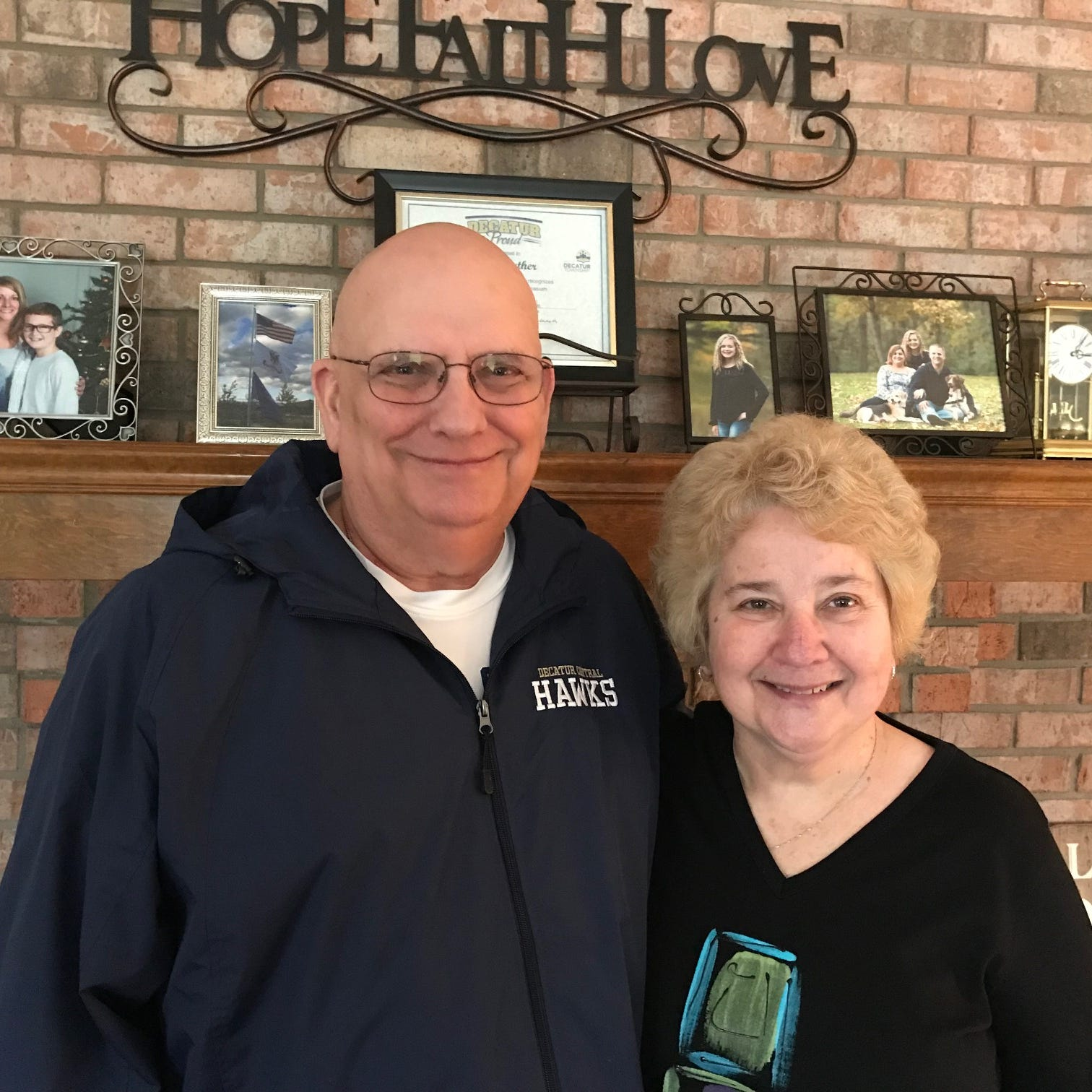 "Dave ""Doc"" Rather and wife, Kathy. Rather, longtime athletic trainer and athletic director, will have the Decatur Central gym named for him on Friday. He is battling prostate cancer."