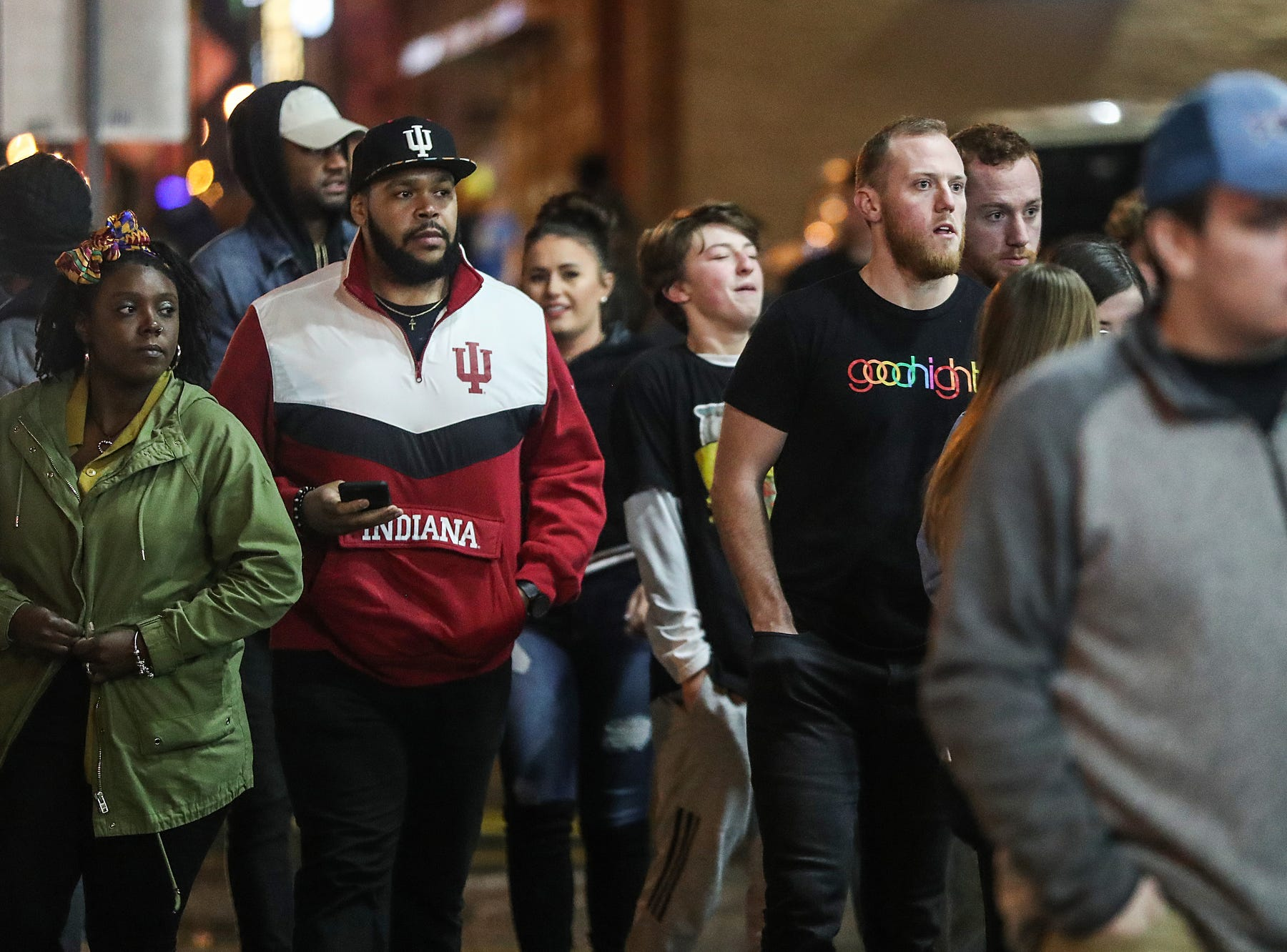 Fans make their way into Travis Scott's Astroworld Tour at Banker's Life Fieldhouse in Indianapolis on Wednesday, Feb. 20, 2018.