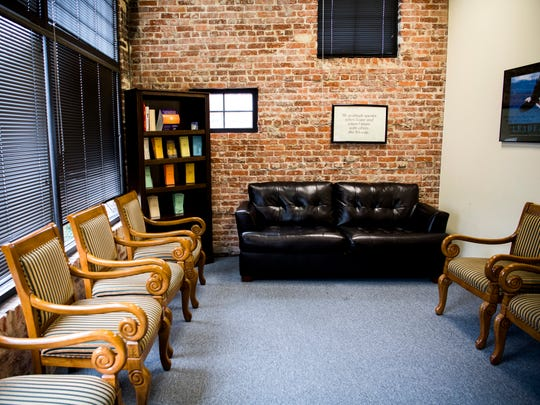 One of the group therapy rooms at ReVIDA Recovery's Knoxville location at 2001 Highland Ave.