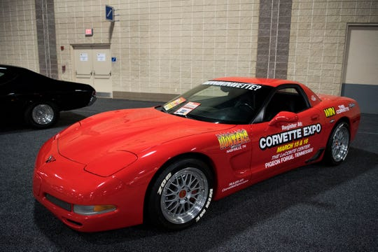 A Corvette Z06 that will be on display at the Knox News Auto Show.