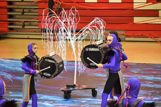 Halls High School's indoor percussion ensemble's Drum-a-thon on Feb. 16 doubled as rehearsal and a fundraiser for the WGI trip to Worlds in Ohio next April.