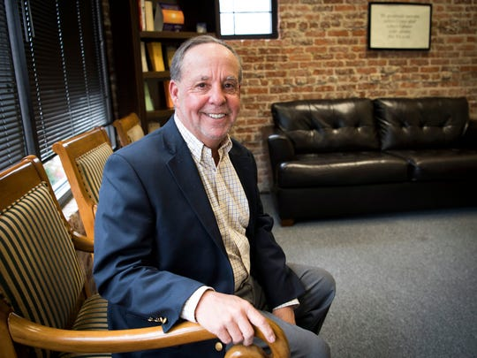 ReVIDA Recovery Chief Operating Officer Ed Ohlinger sits in one of the group therapy rooms at ReVIDA's Knoxville location on Feb. 21, 2019.