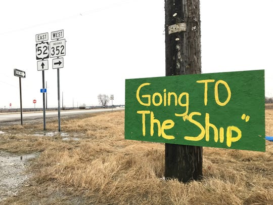 Signs have been posted along US 52 in Benton County to celebrate Benton Central's run to the girls basketball state championship game.