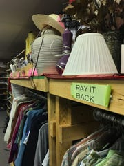 House ware items sit on a shelf at It's My Closet,  a free store for Lafayette School Corp. students and families, among other miscellaneous items like greeting cards and toiletries.