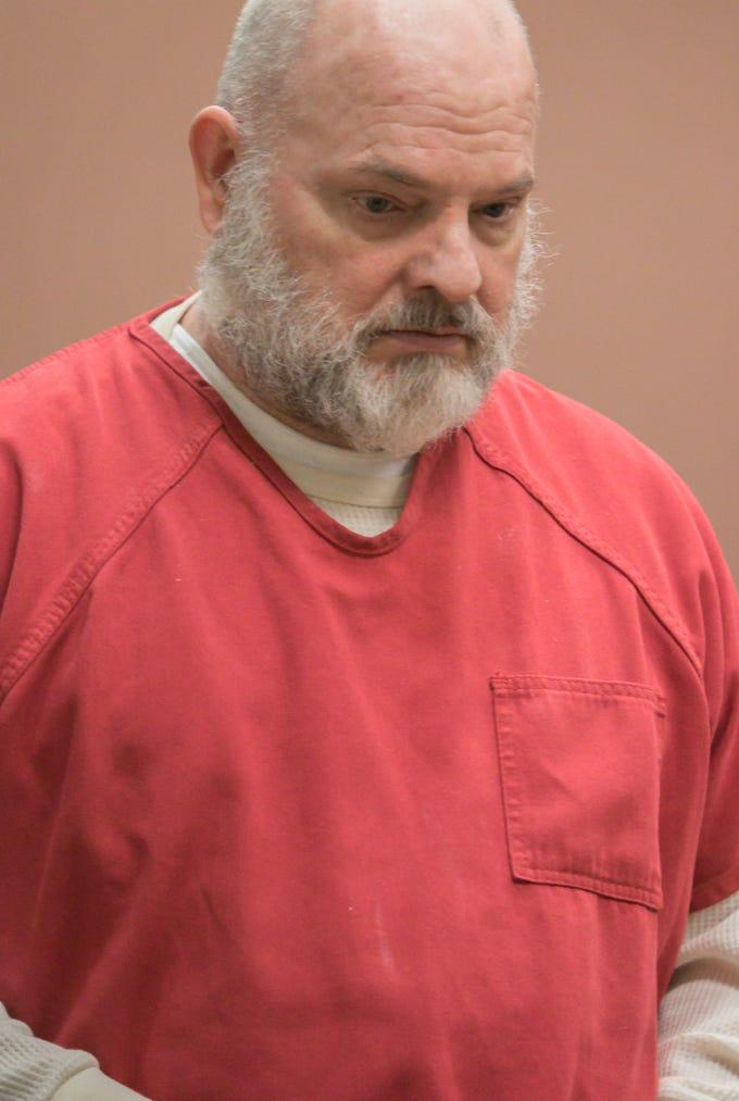 Michael Mapes walks into Miriam Cavanaugh's courtroom Thursday, Feb. 21, 2019 for his sentencing.