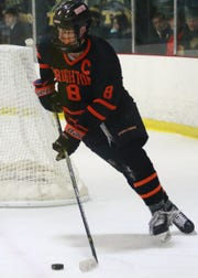 Brighton defenseman Tim Erkkila has been an integral part of back-to-back state hockey championship teams.