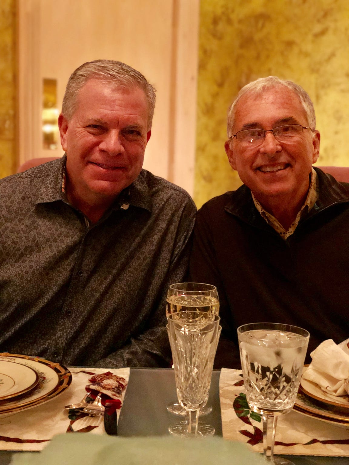 Mike Berry, left, and his partner of more than 30 years, Bill Petter.