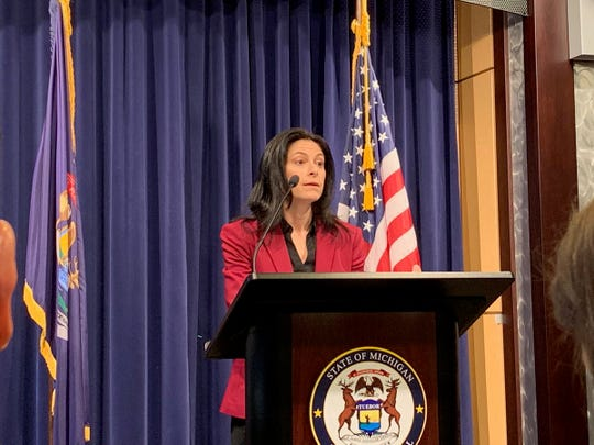 Michigan Attorney General Dana Nessel speaks during a news conference in February 2019.