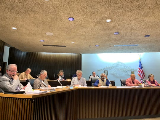Mansfield City Council listens to requests for grant funding at Tuesday's meeting.