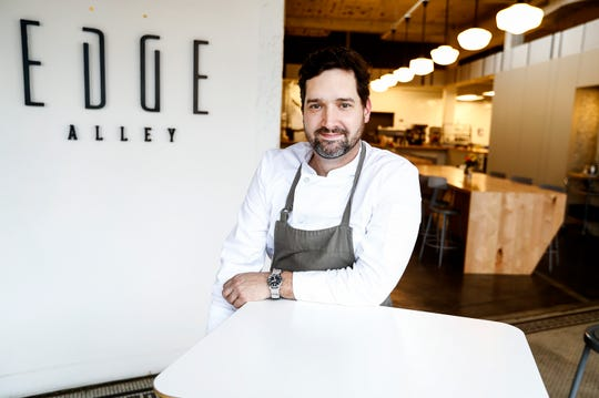 Edge Alley owner Tim Barker opened his concept restaurant that is part cafe, coffee shop and art gallery.