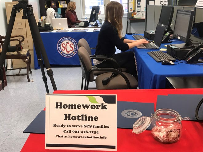 Shelby County Schools relaunched its Homework Hotline program for students in the county.