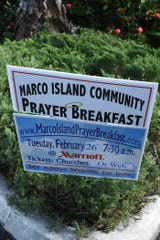 Seven Marco congregations will join together to host the 36th Annual Marco Island Community Prayer Breakfast on Tuesday, Feb. 26 at the JW Marriott hotel.