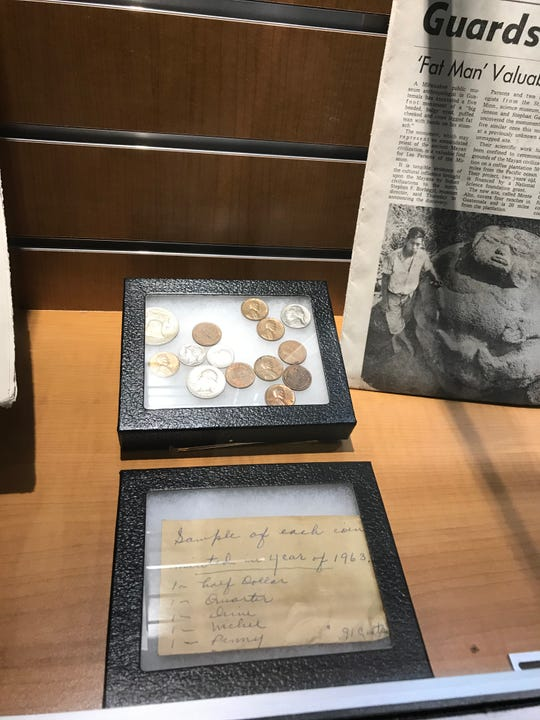 A recently discovered time capsule buried in 1963 while the Milwaukee VA Medical Center was under construction included coins from 1963. It's on display in the entry of the Spinal Cord Injury center at the VA.
