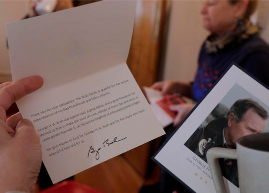 In response to a letter from the PerSisters, the group received a thank you from the family of former President George H.W. Bush after he passed away recently.