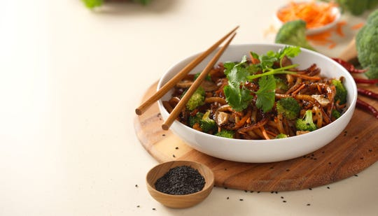 Noodles & Company offers a wide variety of pasta dishes including the Japanese Pan Noodles.