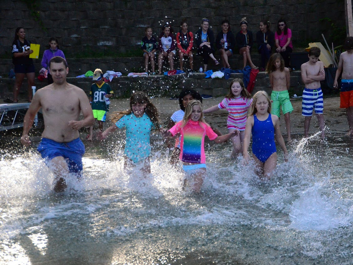 Kids get the opportunity to swim at Camp Odayin.